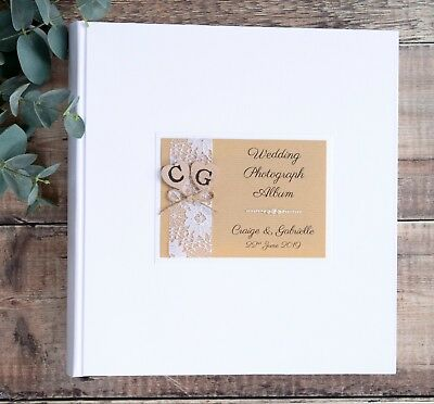EXTRA LARGE Personalised Wedding Photograph Album. 50 pages / 100 sides.
