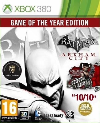 Batman: Arkham City - Game of the Year Xbox 360 Brand New Sealed Official Game