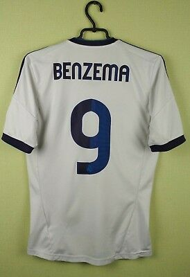 21d0dfee6 Benzema jersey Real Madrid SMALL 2012 13 Home WHITE men s adidas soccer  football