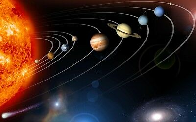 Solar System Planets Stars Poster A4 A3 A2 A1 Gift Present NI0022