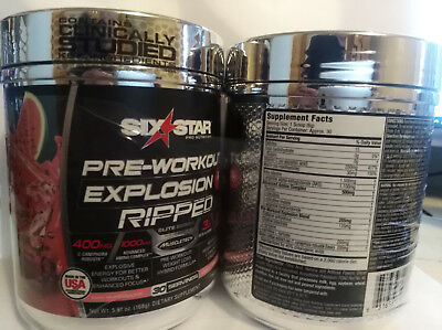 LOT OF 2 SIX STAR PRE-WORKOUT EXPLOSION Watermelon 30 Servings