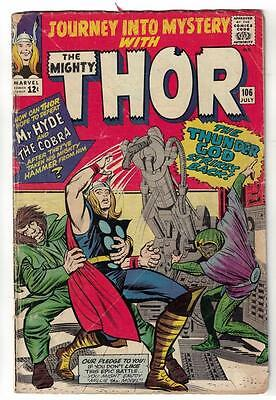Marvel Comics VG 4.0  THOR #106  Journey into mystery  KIRBY MR HYDE