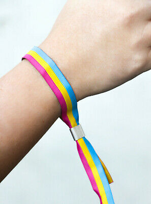 Pansexuell  lgbtq Festivalband CSD Armband Pride Gay lgbt Bändchen Pan Flagge