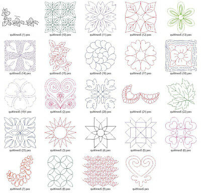 QUILTING LINES V.5 LD MACHINE EMBROIDERY DESIGNS