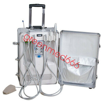 suitcase Dental Mobile Delivery Unit W Curing Light Ultrasonic Scaler handpiece