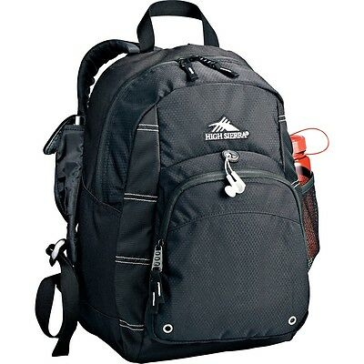 Lightweight Simple School Travel Impact Daypack Backpack Black bag High Sierra