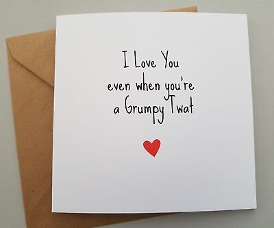 Funny Anniversary Card/rude/humour/ Wife/ Valentines/ Sarcasm / Cheeky  - Lgt
