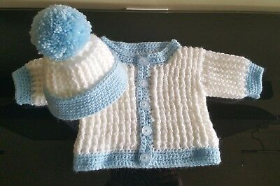 bd77c6951f73 CROCHET BABY CARDIGAN and hat set. 3-6 months - £11.00