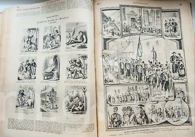 GERMAN ancient book 1883 - Das Rich fur Alle - illustrated germany