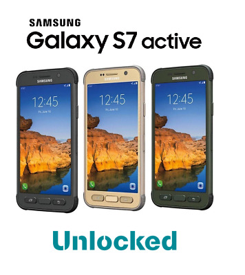 Samsung Galaxy S7 Active G891A GSM Unlocked 32GB Rugged Smartphone - All Colors