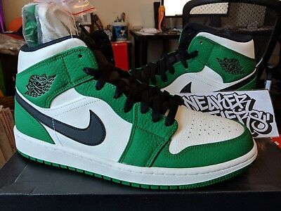 NEW MENS NIKE Air Jordan 1 Retro Mid SE Pine Green 852542-301 Black ... 47fc2837b