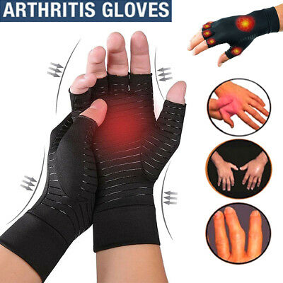 Copper Anti Arthritis Gloves Compression Hand Stiffness Carpal Tunnel Pain Brace