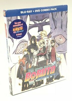Boruto: Naruto The Movie (Blu-ray/DVD, 2017, 2-Disc Set) NEW w/ Slipcover