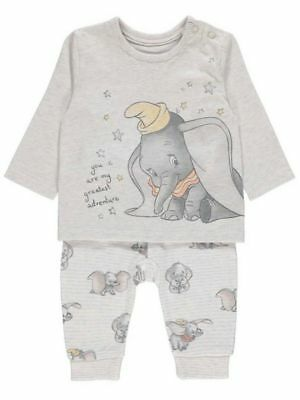 Disney Baby Grey Dumbo Sweatshirt and Joggers Outfit - Various Sizes