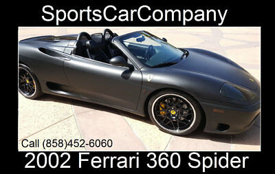 2002 Ferrari 360 SPIDER 360 SPIDER 2002 FERRARI 360 SPIDER MATTE BLACK BEAUTY F1 TRANSMISSION LOADED & GREAT PRICE