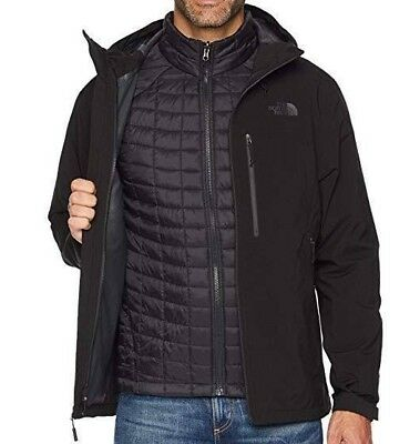 THE NORTH FACE Thermoball Triclimate Mens L Black Jacket Coat Parka NEW  299 a7ec3b867