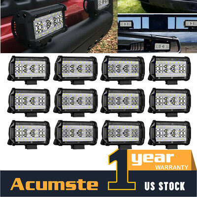 12Pcs 5INCH 1008W LED Work Light Bar Spot Combo OffRoad Driving For SUV ATV Jeep