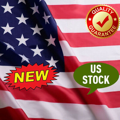 US Flag Factory 3'x5' American Flag Outdoor polyester Stripes PRINTED Stars USA
