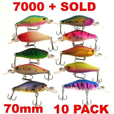 10 Redfin & Bream Freshwater Fishing Lures, Flathead, Bass, Perch, Trout,Cod