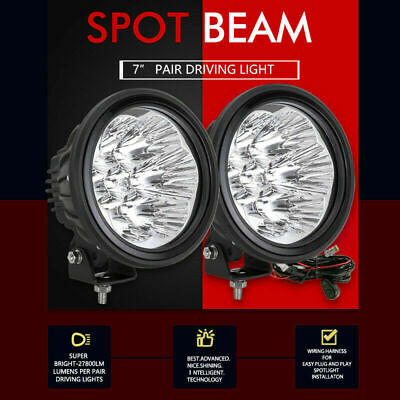 7inch OSRAM Spot LED Driving Lights Spotlight Offroad Lamp Round Headlight JEEP