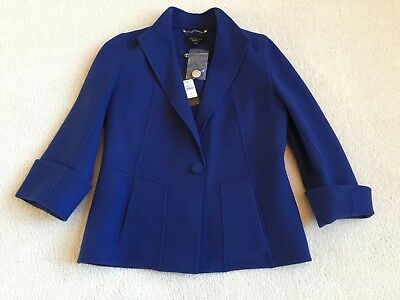 TALBOTS 100% Wool Jacket  -  Cobalt Blue  Sz 6  NWT   MSRP $249
