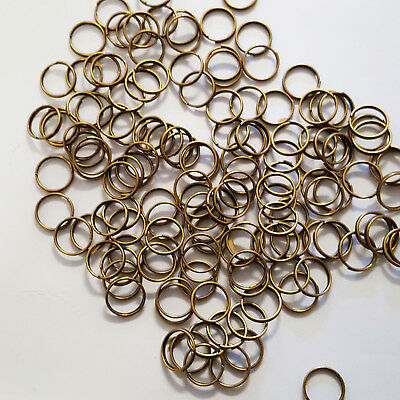 QTY 100 x 10mm DOUBLE LOOP JUMP RINGS ANTIQUE BRONZE JEWELLERY FINDINGS CRAFT