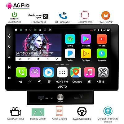 ATOTO A6 10IN Pro A6Y1021PR Double DIN Android Car GPS Stereo -Bluetooth w/  aptX