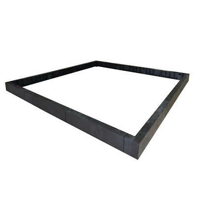 6' x 10' x 5' Greenhouse Base Kit Heavy Duty UV Protected Resin Frame Push Fit