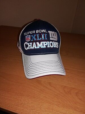 bb823d36ca3 SUPER BOWL XLII 42 NFL FOOTBALL NEW YORK GIANTS CHAMPIONS Locker Room Hat  Reebok