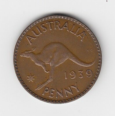 1939 Kgvi Australia Penny - Very Nice Collectable Vintage Coin
