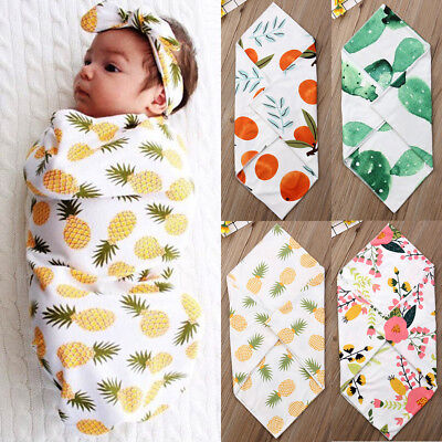Newborn Baby Flower Cotton Snuggle Swaddling Wrap Blanket Sleeping Bag Swaddle