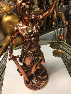 Unique Large Copper Wash Egyptian Lady Scales of Justice Lawyer Made In Egypt