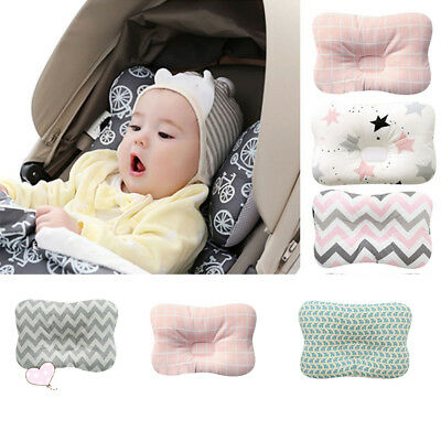 US Baby Infant Toddler Pillow Flat Head Sleeping Support Cushion Prevent Soft