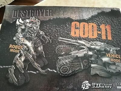 Transformers TOY TF Dream Studio GOD-11 MEGATRON MOVIE ACTION FIGURE IN STOCK