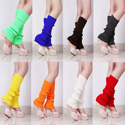 1 Pair Fashion Women Solid Candy Color Knit Leg Warmers Loose Style  Candy