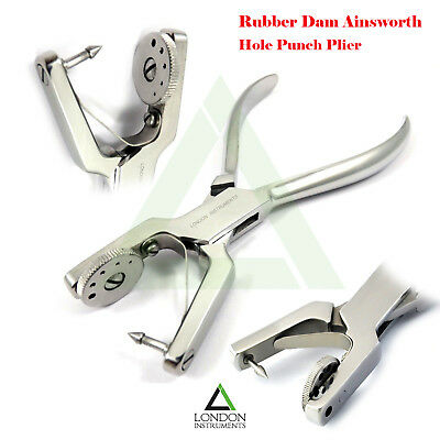 Ainsworth Hole Punch Plier Rubber Dam Forceps Ortho Dental Instruments Lab