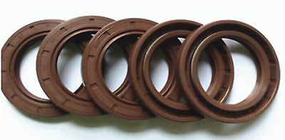 Select Size ID 32 - 38mm TC Double Lip KFM Oil Shaft Seal with Spring [CAPT2011]