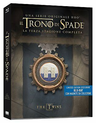 OVP - 5 DISC BLU RAY STEELBOOK - GAME OF THRONES STAFFEL 3 - DEUTSCHER TON - OoP