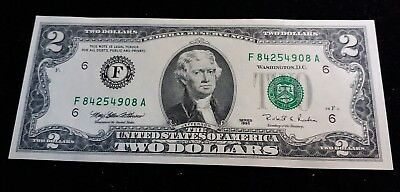 USA 1995 Two Dollar Bill Banknote GEM UNC Very Nice High Grade $2 Note RARE