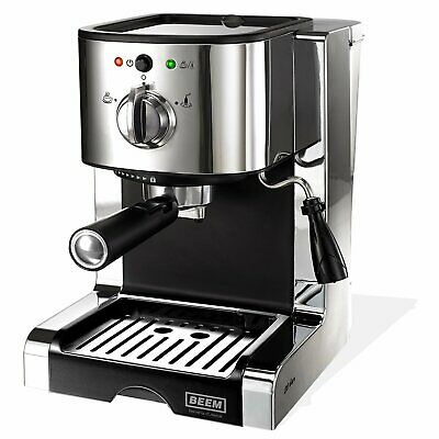 Beem Kaffeemaschine Espresso Perfect 20 bar Edehlstahl/Chrom Kaffee