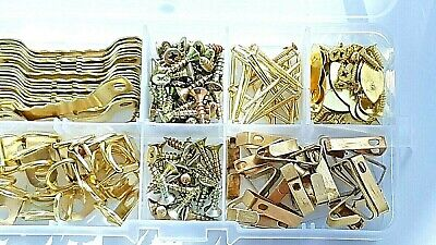 Picture Hanging Kit Screws Hooks Nails D Rings Mixed Set 180 Pieces