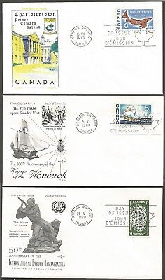 1968 / 69 Canada Fdcs 5C & 6C Booklet Stamps First Day Of Issue Canada Covers