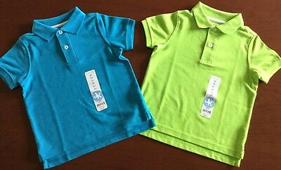 Nwt J Khaki Boys Size 2T ~ Lot Of Two Pique Polo Shirts ~ Total Msrp $40.00