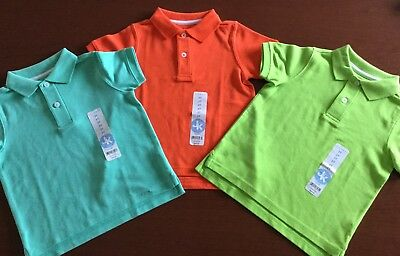 Nwt J Khaki Boys Size 2T ~ Lot Of Three Pique Polo Shirts ~ Total Msrp $60.00