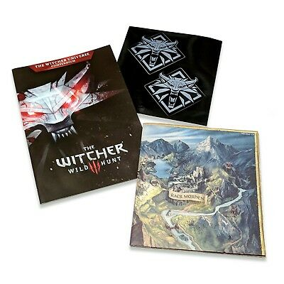 THE WITCHER III: WILD HUNT Collectable Merch (Map, Compendium, Stickers) *NEW!*