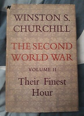 The Second World War (Volume II) Their Finest Hour Winston Churchill 1949  HB