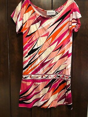 e97ed6fe EMILIO PUCCI MADE in Italy Embellished Multicolor Sequin Silk Dress ...