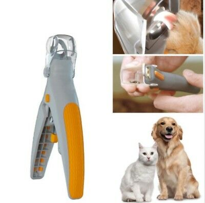 Pet Nail Clippers ScissorsTrimmer Grooming Tools Led Light  Black Nails Animals