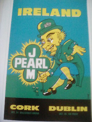 Pearl Jam Dublin Cork Ireland 1996 Tour Poster 26x17cm from Book to Frame?