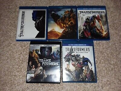 Transformers Collection (Blu-ray, 4K, Revenge Moon Age Extinction Last Knight)